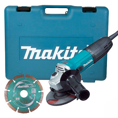 """MAKITA GA4530KD 720W 4.5"""" 115mm ELECTRIC 110V ANGLE GRINDER IN CASE & DISC NEW"""