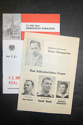 Inter Milan V Real Madrid 1964 European Cup Final + Insert