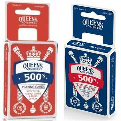 2 x Decks Queen's Slipper 500's Playing Cards Casino Quality Double - BLUE + RED