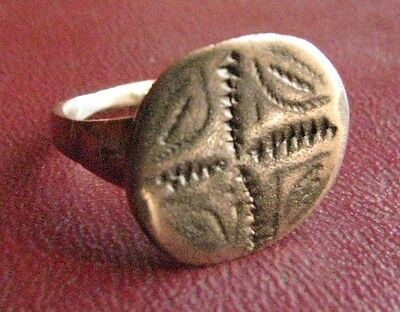 Ancient Artifact > Medieval Bronze Finger Ring SZ: 9 1/4 US 19.25 mm 13440 DR