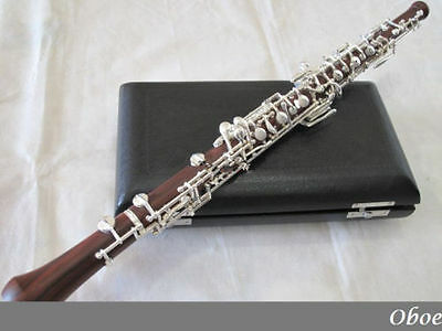 professional rosewood concert semiautomatic oboe C key Silver plated keys