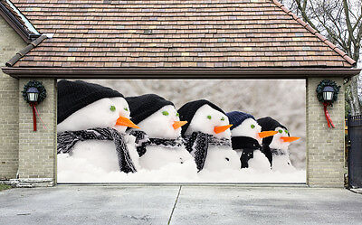 Christmas Garage Door Covers 3D Banners Outside House Decorations Billboard G74
