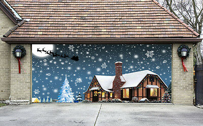 Garage Door Covers christmas garage door covers 3d banners outside house decorations