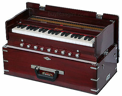 Harmonium Folding Bina No.23 B Delux|Rosewood|Coupler Funct.|42 Key|Bag|Agh-2