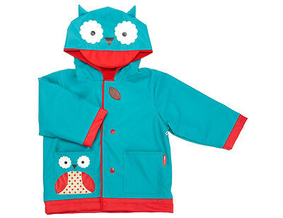 Skip Hop Zoo Toddler / Little Kid Raincoat - Lined Rain Jacket - Otis Owl