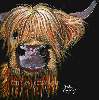 HIGHLAND COW PRINTS of Original SCOTTISH Painting HENRY by SHIRLEY MACARTHUR