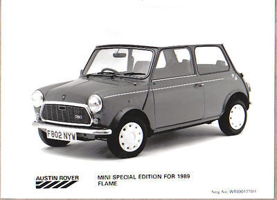 Mini Flame Special Edition 1989 Original b&w Press Photograph No. WR8901270/1