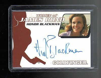 James Bond in Motion Honor Blackman autographed card