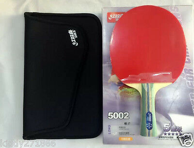 DHS 5002 Table Tennis Rackets Shake-hands Grip 5 Star Paddle Bat Long Handle Hot