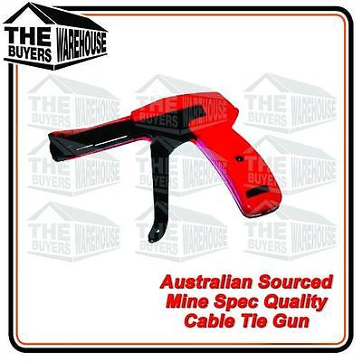 Auto Tensioning Cable Tie Gun Cutting Metal Mine Quality Nylon Australian