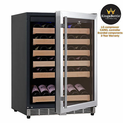 KingsBottle 50 Bottle Glass Door Front Venting Wine Fridge