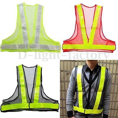 Hi Vis High Viz Visibility Waistcoat Safety Vest Jacket Traffic Workwear Mesh