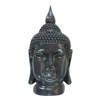buddha dekofigur figur feng shui skulptur statue thailand buddhismus asia grau eur 18 50. Black Bedroom Furniture Sets. Home Design Ideas