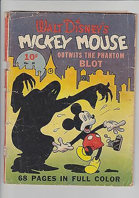 1942 Dell Comics Four Color #16 Mickey Mouse Outwits the Phantom Blot G-