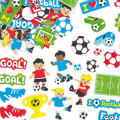 Football Foam Stickers for Children to Decorate Crafts and Artwork (Pack of 120)