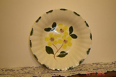 "Vintage Blue Ridge Yellow Flowers Serving Bowl 9 1/2"" Perfect Condition"