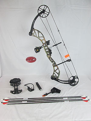 Bear Wild Compound Bow Right Hand 70# Xtra Camo Ready to hunt package