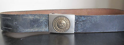 Ultra rare Germany WWI WWII Fire defense officer leather belt with belt buckle