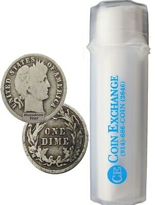 Roll of $5 Face 90% Silver Barber Dimes Full Dates