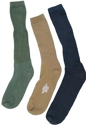 USOA ANTI-MICROBIAL BOOT SOCK 3 Pair Black/OD/Tan/Coyote Military Socks
