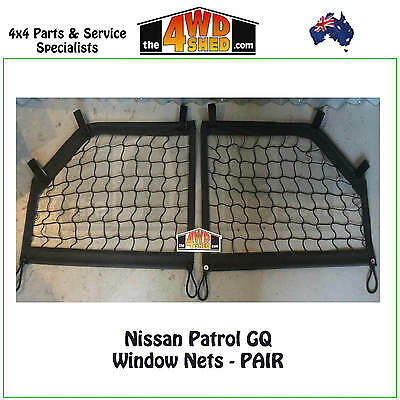 The 4WD Shed - Window Nets (Pair) - Nissan GQ Patrol