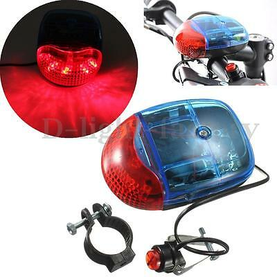 Bike Bicycle Cycling 8 Sounds 5 LED Police Car Siren Electric Light Horn Belight