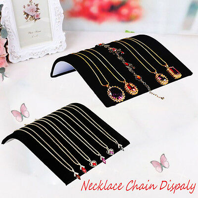 Black Velvet Necklace Chain Pendant Show Display Jewelry Organizer Stand Holder