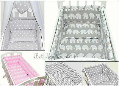 6p BABY SWINGING/ ROCKING CRIB /CRADLE BEDDING SET/ALL ROUND BUMPER 100% COTTON!