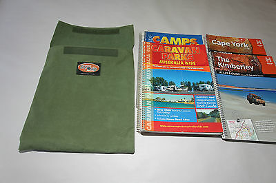 Map guide book bag. Australian made with Australian Canvas. For Camps 9 Hema