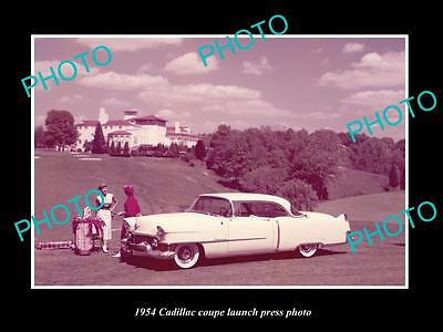 OLD LARGE HISTORIC PHOTO OF 1954 CADILLAC COUPE CAR LAUNCH PRESS PHOTO 1
