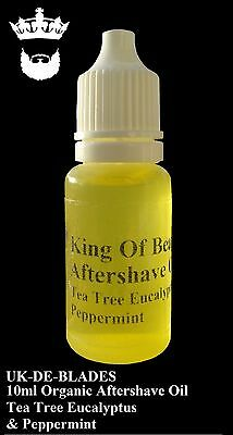 10ml Post / After Shave Oil Tea Tree Eucalyptus & Peppermint  UK DE BLADE