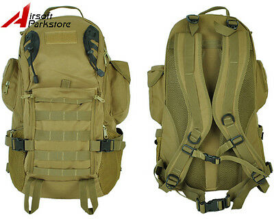 35L Tactical Military Outdoor Molle Day Backpack Hiking Camping Laptop Bag Tan