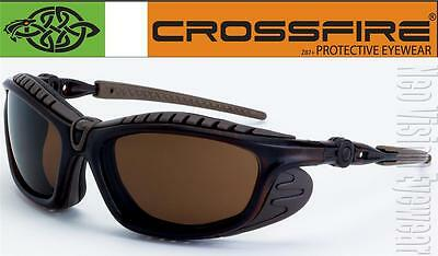 Crossfire Eclipse Brown HD Anti Fog Lens Foam Padded Safety Glasses Sunglasses