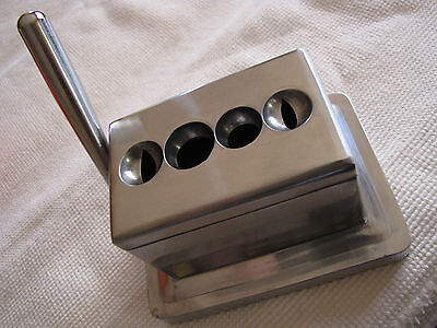 Quad Cigar Table Top Cutter Stainless body / blades 4 cutters NEW IN BOX - RARE