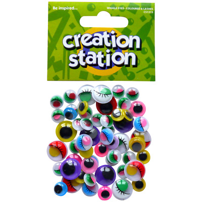 Wiggly Eyes Pack of 50 assorted