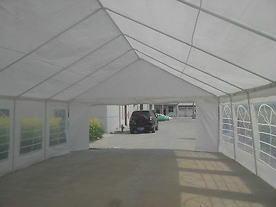 10x40 Heavy Duty Party Tent fully enclosed with walls on all four sides.