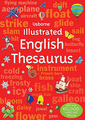 Illustrated English Thesaurus by Usborne - Paperback Book