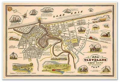 1864 MITCHELL MAP QUEBEC CANADA VINTAGE POSTER ART PRINT 2947PY