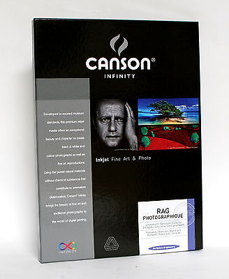 Canson Infinity Rag Photographique 310gsm A3 25 Sheets