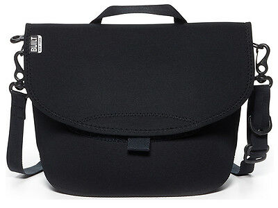 Built NY Messenger Black Neoprene Bike Lunch Bag