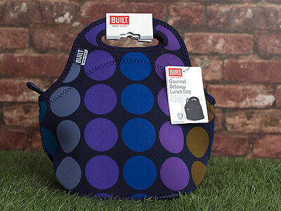 Built NY Gourmet Getaway Neoprene Plum Dot Lunch Tote