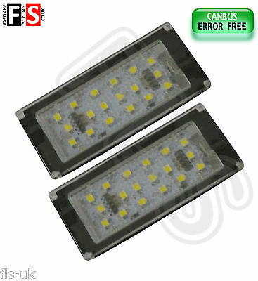 2 X Bmw E46 2D/m3 Car Number Plate Lights White Led 18Smd Canbus Error Free