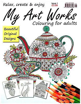 My Art Works issue 1 - Art Therapy - Adult Colouring Book -  NEW