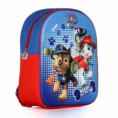 Paw Patrol 3D Eva School Bag Rucksack Backpack Brand New Gift