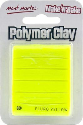 Mont Marte Make N Bake Polymer Clay 60g - Fluro Yellow