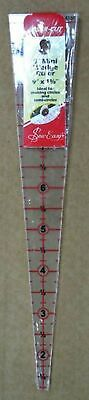 """SEW EASY TRIANGLE 9 DEGREE WEDGE RULER 9"""" x 1 5/8"""", FOR CIRCLES & SEMI CIRCLES"""