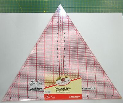 """Sew Easy Patchwork Ruler 12"""" x 13.87"""" 60 Degree Triangle, For Craft, Quilting &"""