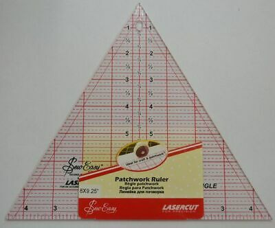 "Sew Easy Patchwork Ruler 8"" x 9.5"" 60 Degree Triangle, For Craft, Quilting & Pat"