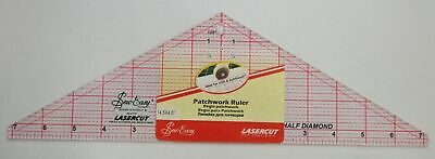 "Sew Easy Patchwork Ruler 14.5"" x 4.5"" Half Diamond For Craft Quilting & Patchwor"