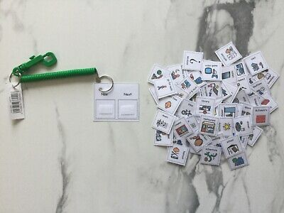 PECS/Boardmaker Now/Next Key Ring & 70 Cards for autism/ASD/ADHD/SEN/Aspergers